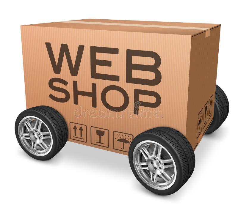 Παράδοση συσκευασίας Webshop διανυσματική απεικόνιση
