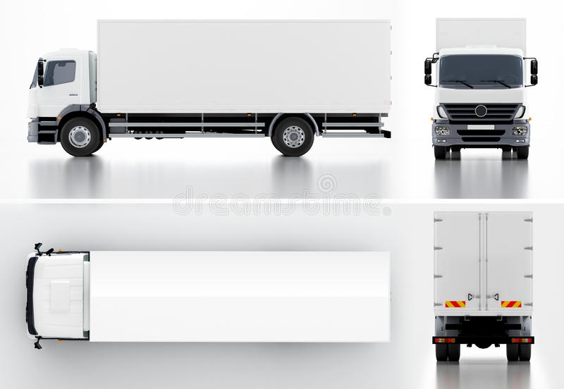 Παράδοση/truck φορτίου διανυσματική απεικόνιση