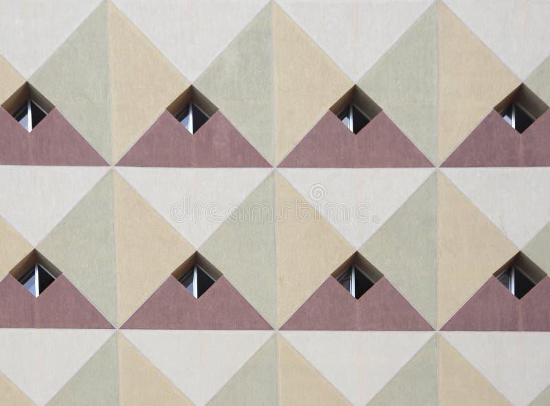 Παράθυρα προσόψεων diamond-shaped στοκ φωτογραφίες