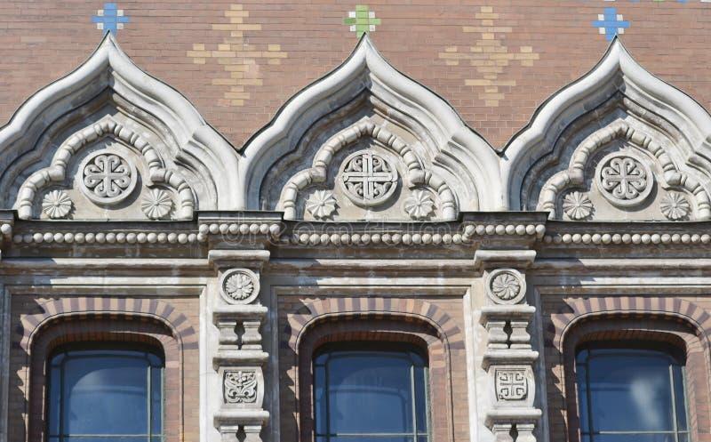 Παράθυρα του ορθόδοξου NA Krovi SPA καθεδρικών ναών στοκ εικόνες