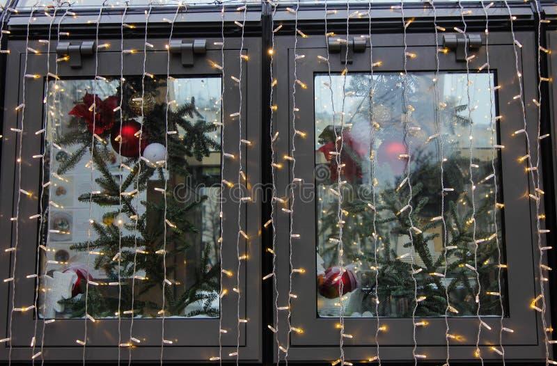παράθυρο έκδοσης ράστερ απεικόνισης Χριστουγέννων στοκ εικόνα με δικαίωμα ελεύθερης χρήσης