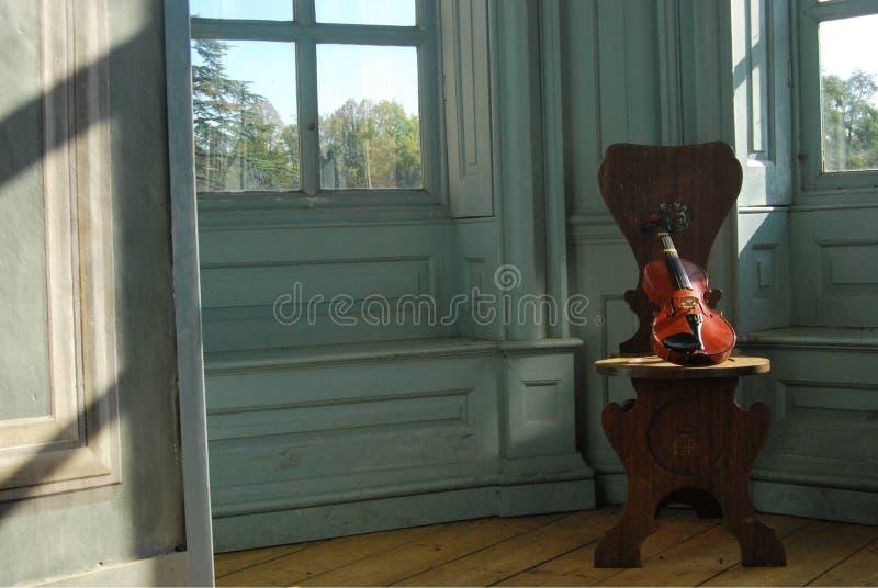 Παράθυρο βιολιών στοκ εικόνα
