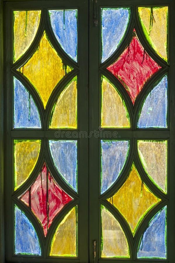 Παράθυρο γυαλιού χρώματος στοκ εικόνα με δικαίωμα ελεύθερης χρήσης
