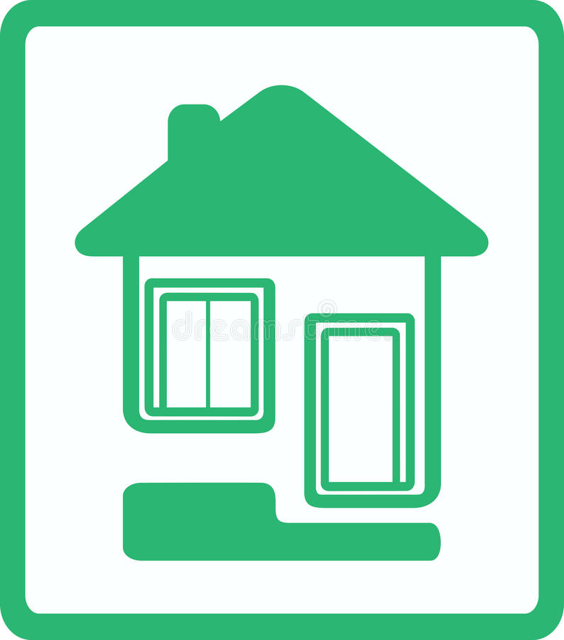 παράθυρο εικονιδίων σπιτιών πορτών ελεύθερη απεικόνιση δικαιώματος