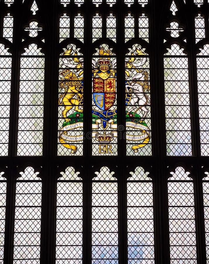 Παράθυρο ιωβηλαίου διαμαντιών βασίλισσας Elizabeth II στοκ εικόνες