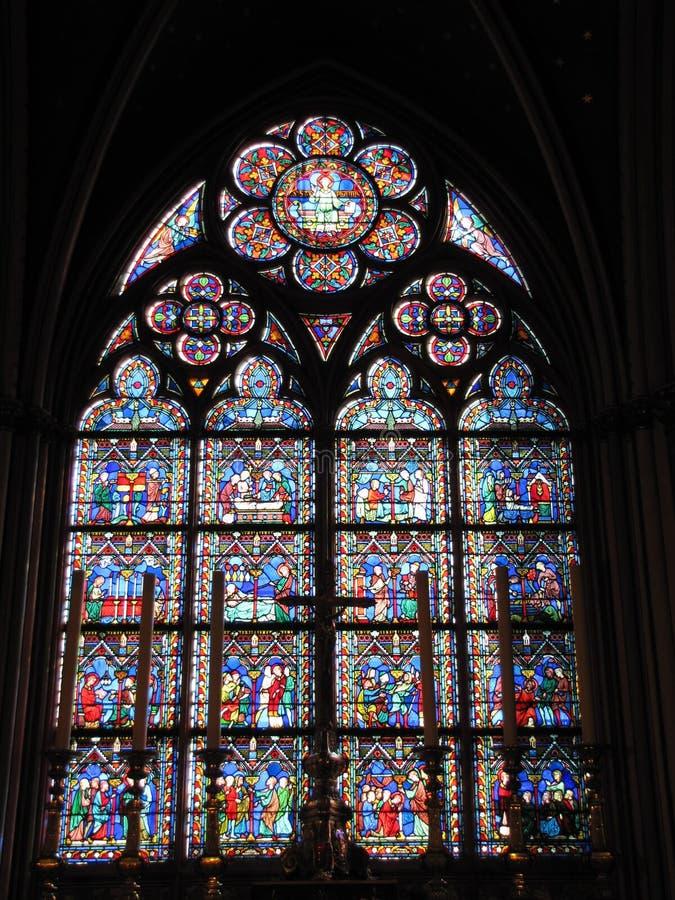 παράθυρο καθεδρικών ναών στοκ εικόνες