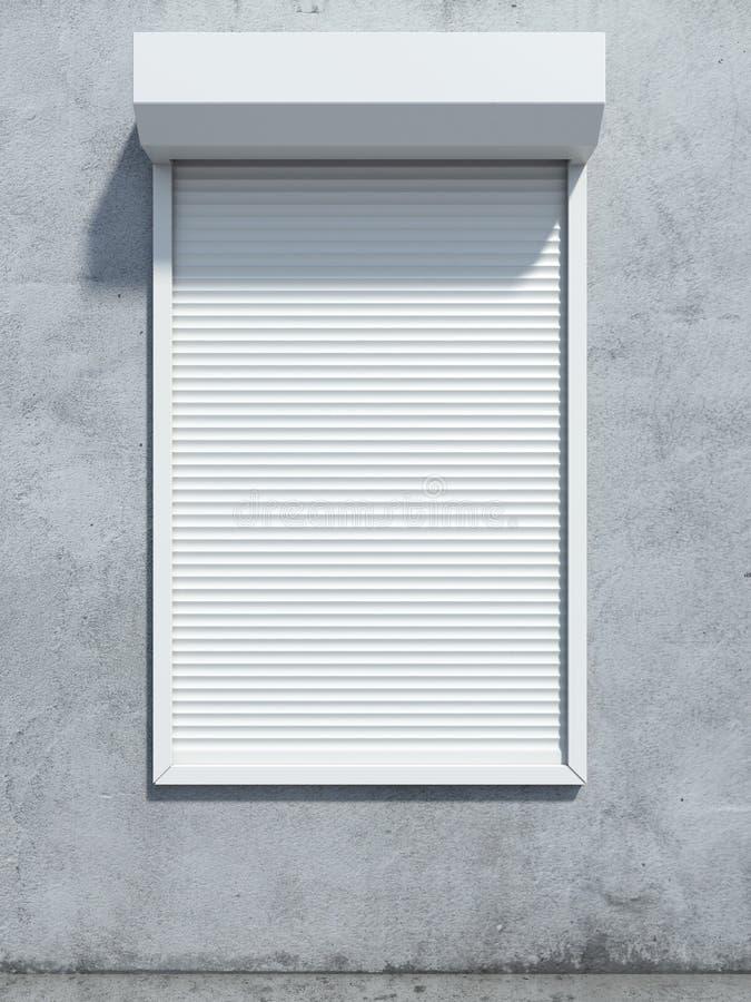 Παράθυρο με το παραθυρόφυλλο κυλίνδρων στοκ φωτογραφία