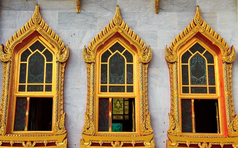 παράθυρο ναών στοκ εικόνες
