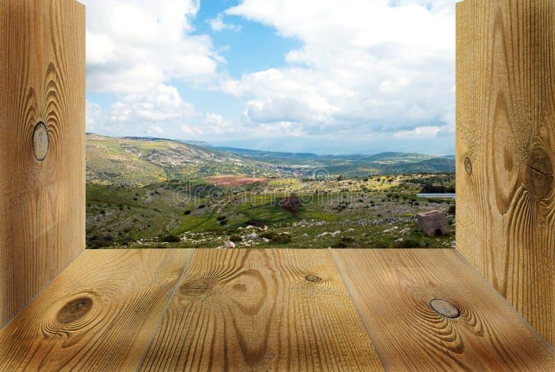 παράθυρο ξύλινο Στοκ Εικόνες