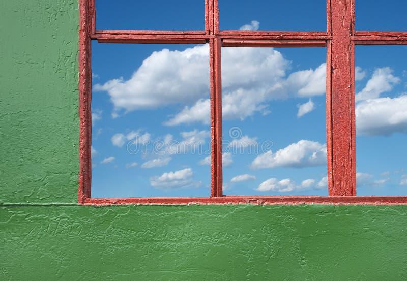 παράθυρο ουρανού Στοκ Εικόνες