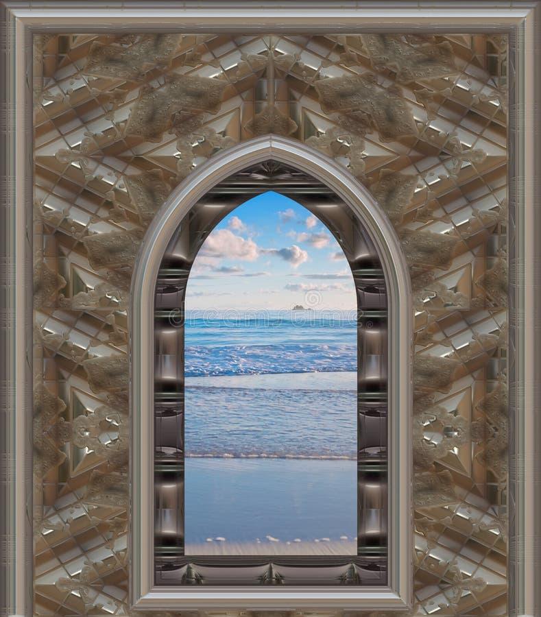 παράθυρο παραλιών απεικόνιση αποθεμάτων