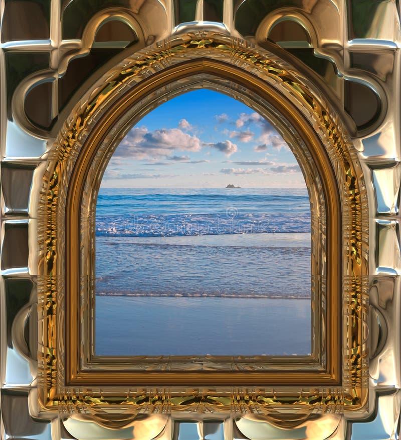 παράθυρο παραλιών διανυσματική απεικόνιση