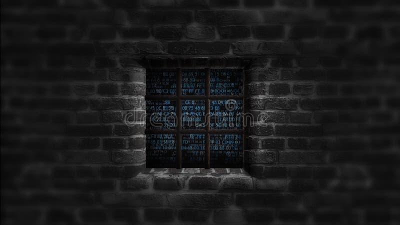 Παράθυρο προστασίας δεδομένων Στοιχεία που προστατεύονται Ασφάλεια έννοιας ελεύθερη απεικόνιση δικαιώματος