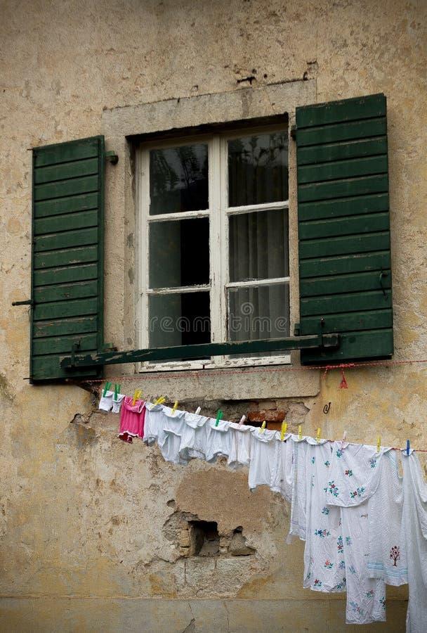 Παράθυρο σε Kotor στοκ εικόνες