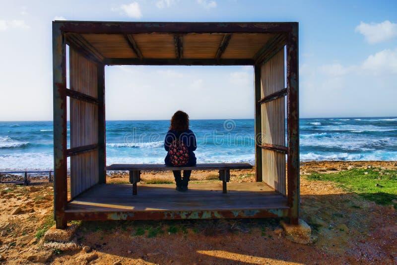 Παράθυρο στη θάλασσα στοκ εικόνα με δικαίωμα ελεύθερης χρήσης