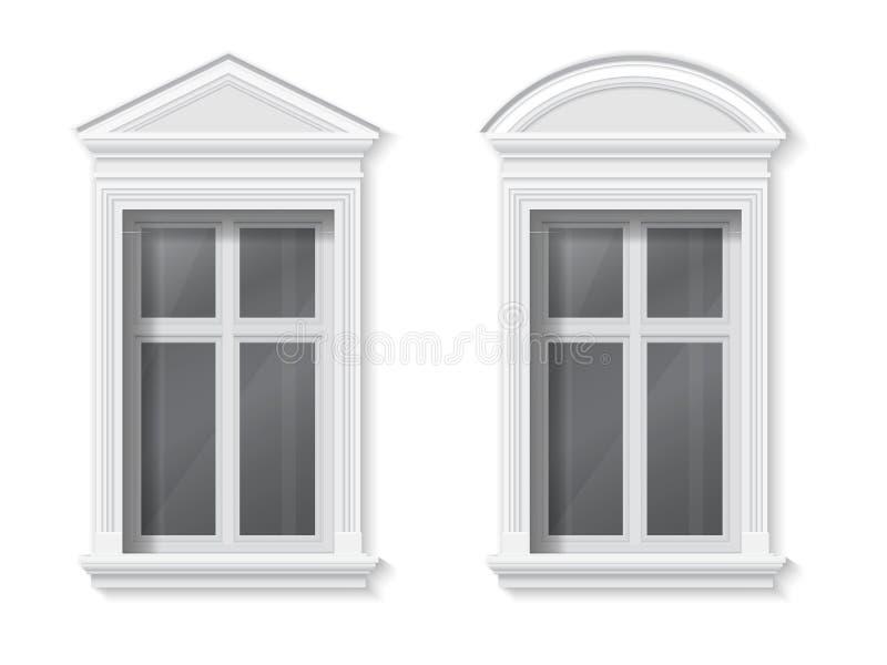 Παράθυρο στο κλασικό πλαίσιο διανυσματική απεικόνιση