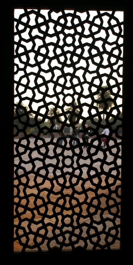 παράθυρο τάφων προτύπων του Δελχί humayun στοκ φωτογραφίες