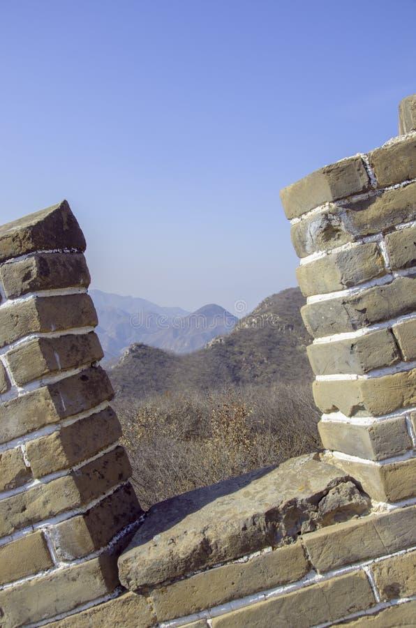 Παράθυρο του μεγάλου κινεζικού τοίχου στοκ φωτογραφίες