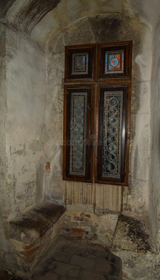 Παράθυρο του Castle Corvinesti στοκ φωτογραφία