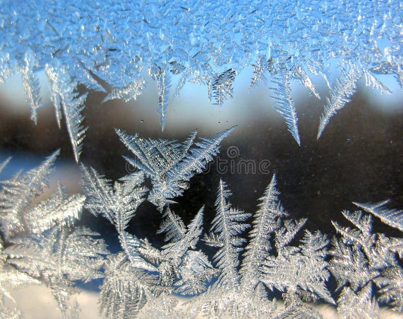 παράθυρο χιονιού προτύπων στοκ εικόνα