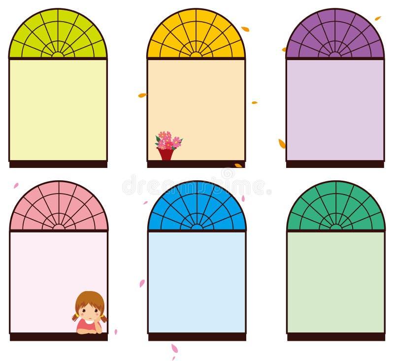 παράθυρο χρώματος διανυσματική απεικόνιση