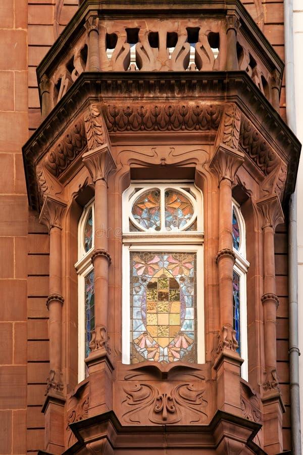παράθυρο deco τέχνης στοκ φωτογραφία