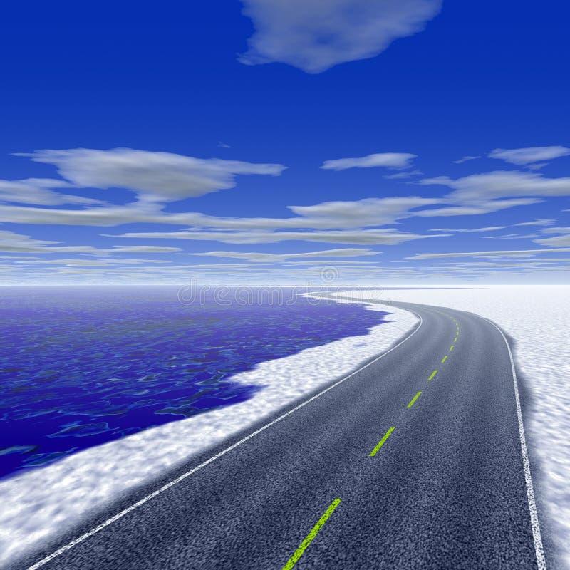 παράκτια εθνική οδός απεικόνιση αποθεμάτων