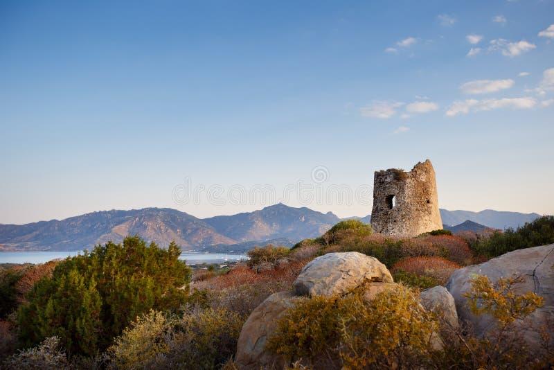 Παράκτιος πύργος σε Villasimius, Σαρδηνία στοκ φωτογραφία με δικαίωμα ελεύθερης χρήσης