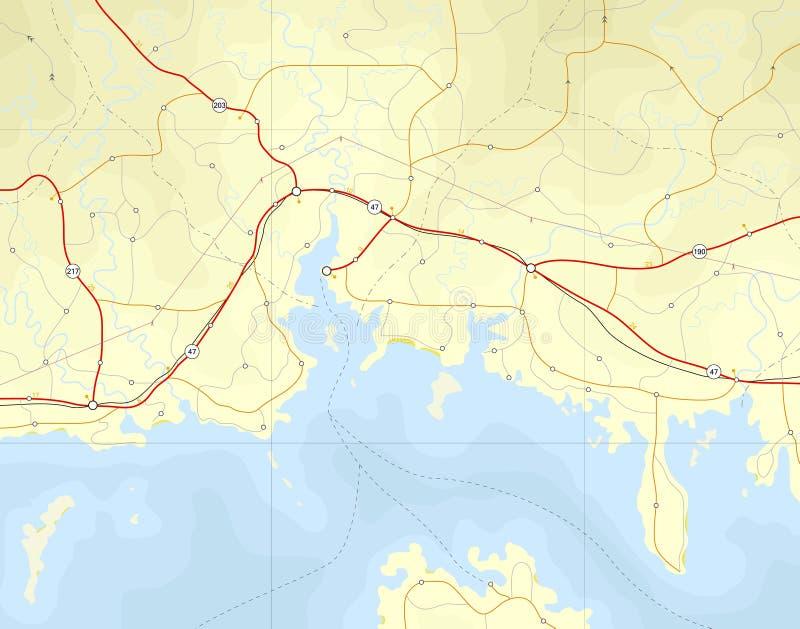 παράκτιος χάρτης απεικόνιση αποθεμάτων