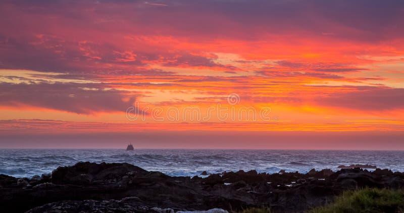 Παράκτιο ηλιοβασίλεμα στη Νότια Αφρική στοκ εικόνες με δικαίωμα ελεύθερης χρήσης