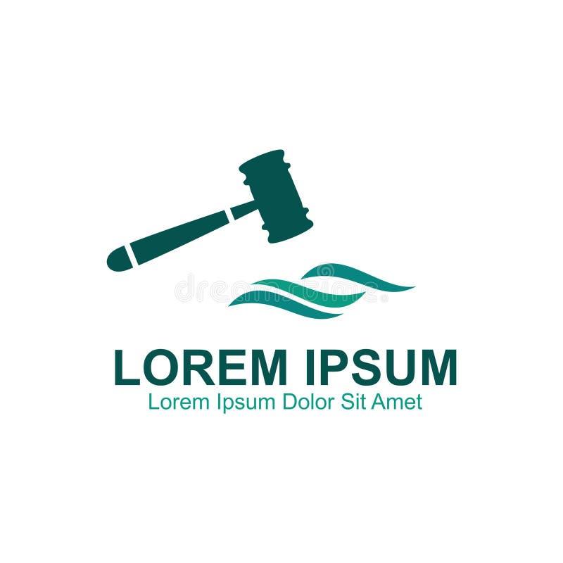 Παράκτιο λογότυπο πληρεξούσιων διανυσματική απεικόνιση