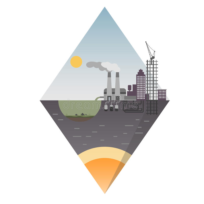 Παράκτιο να επιπλεύσει σχέδιο νησιών Οικολογικό υπόβαθρο κατάλληλο για τις παρουσιάσεις απεικόνιση αποθεμάτων