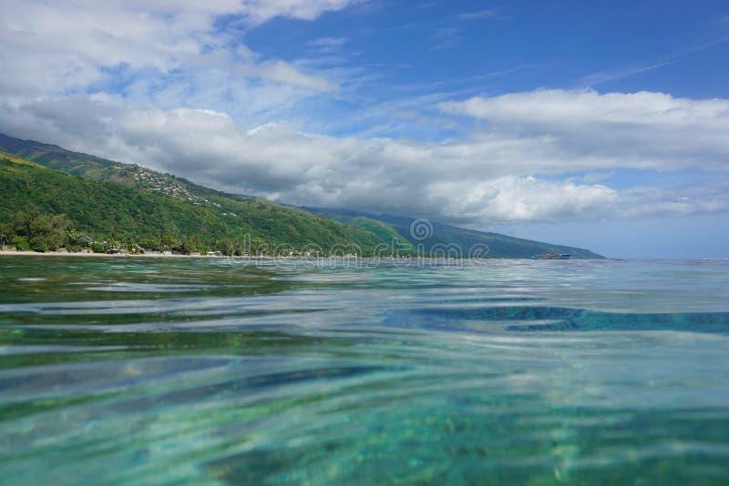 Παράκτιο τοπίο γαλλική Πολυνησία νησιών της Ταϊτή στοκ φωτογραφίες