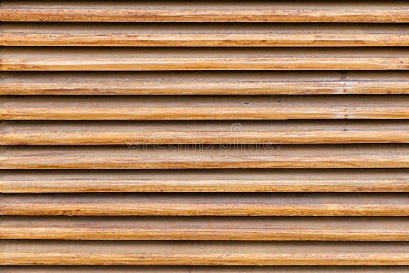 Παράλληλη ξύλινη slats σύσταση Ξύλινοι τυφλοί, ως στοιχείο του ντεκόρ στοκ εικόνα