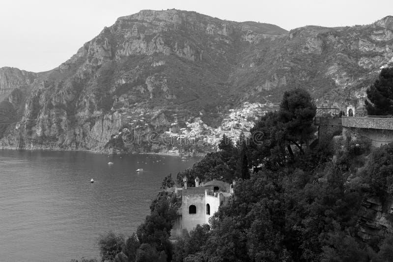 Παράλληλοι, το χωριό Positano, ακτή της Αμάλφης, Ιταλία στοκ φωτογραφία με δικαίωμα ελεύθερης χρήσης