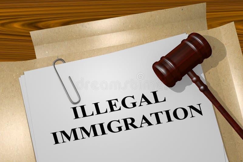 Παράνομη μετανάστευση - νομική έννοια απεικόνιση αποθεμάτων
