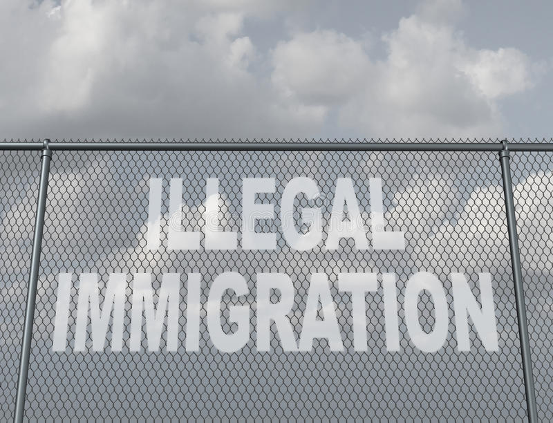 παράνομη μετανάστευση διανυσματική απεικόνιση