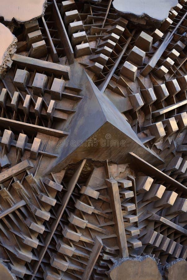 Παράξενη δομή μετάλλων στοκ φωτογραφίες με δικαίωμα ελεύθερης χρήσης