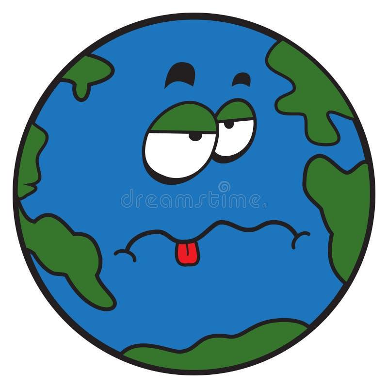 Παράξενος πλανήτης Γη κινούμενων σχεδίων απεικόνιση αποθεμάτων
