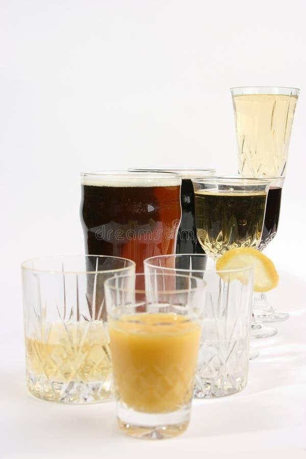 παράταξη ποτών στοκ φωτογραφία