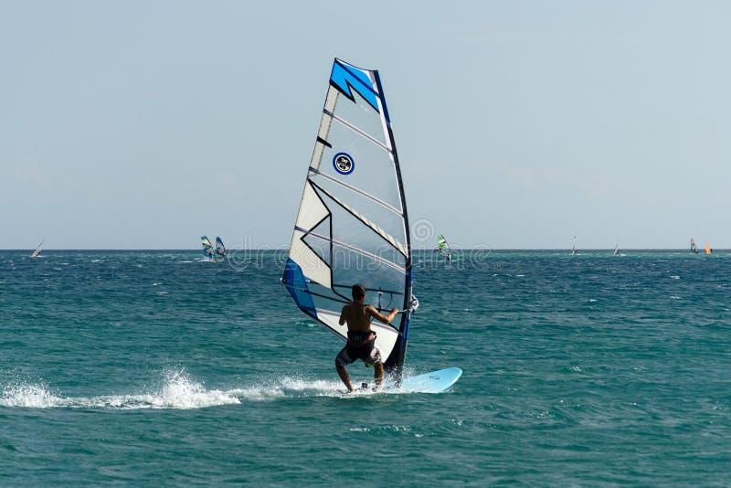 Παράδεισος Alacati windsurf στοκ εικόνες