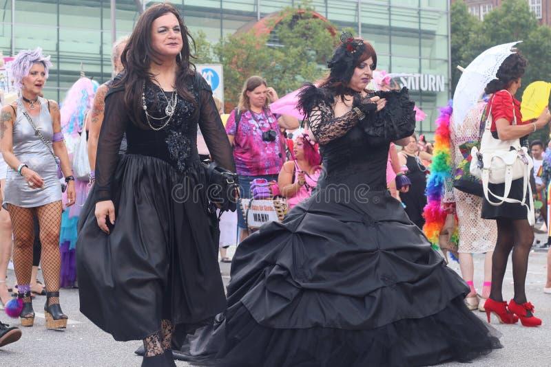 Παρέλαση 2018 επίδειξη του Αμβούργο, Γερμανία LGBTIQ της CSD στοκ φωτογραφίες