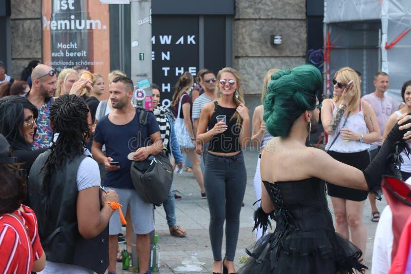 Παρέλαση 2018 επίδειξη του Αμβούργο, Γερμανία LGBTIQ της CSD στοκ φωτογραφία