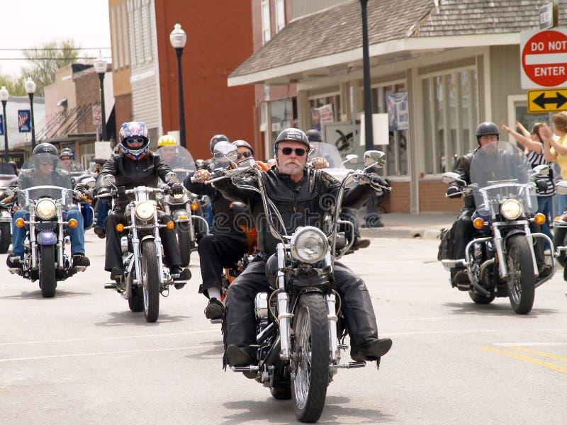 παρέλαση μοτοσικλετών στοκ εικόνες με δικαίωμα ελεύθερης χρήσης