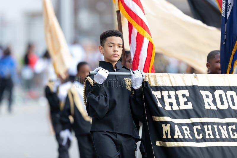 Παρέλαση Νέα Ορλεάνη της Mardi Gras στοκ εικόνα με δικαίωμα ελεύθερης χρήσης
