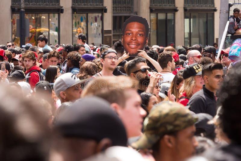 Παρέλαση νίκης των Toronto Raptors στοκ εικόνες