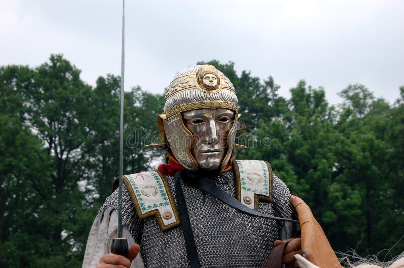 παρέλαση Ρωμαίος μασκών λ&eps στοκ εικόνες με δικαίωμα ελεύθερης χρήσης