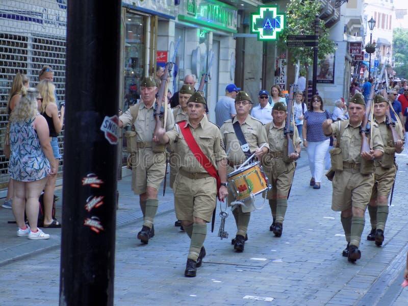 Παρέλαση της παλαίμαχος-Γιβραλτάρ-Ευρώπης στοκ φωτογραφία με δικαίωμα ελεύθερης χρήσης