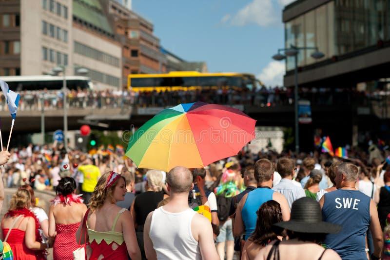 Παρέλαση 2012 υπερηφάνειας της Στοκχόλμης στοκ φωτογραφίες με δικαίωμα ελεύθερης χρήσης