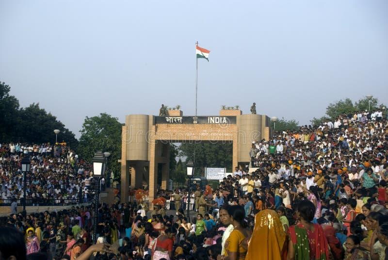 παρέλαση Punjab της Ινδίας attari στοκ φωτογραφία με δικαίωμα ελεύθερης χρήσης